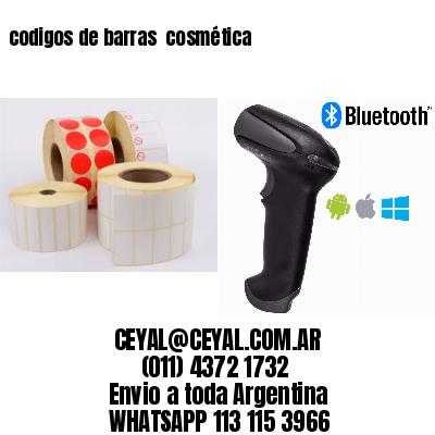 codigos de barras  cosmética