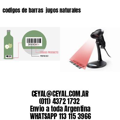 codigos de barras  jugos naturales