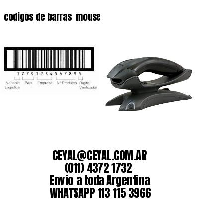 codigos de barras  mouse