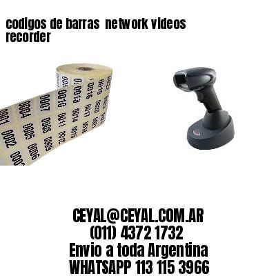 codigos de barras  network videos recorder