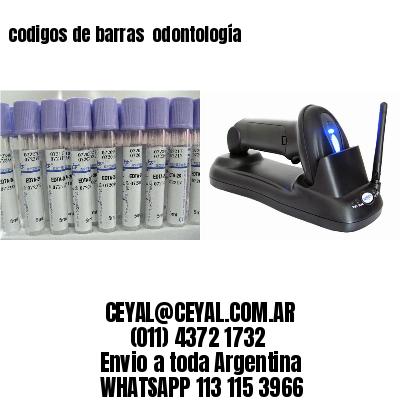 codigos de barras  odontología