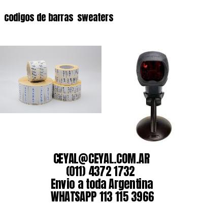 codigos de barras  sweaters
