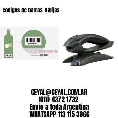 codigos de barras  valijas