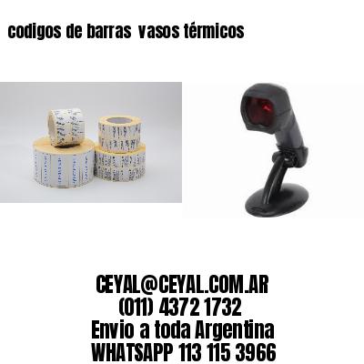 codigos de barras  vasos térmicos