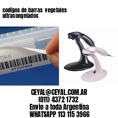 codigos de barras  vegetales ultracongelados