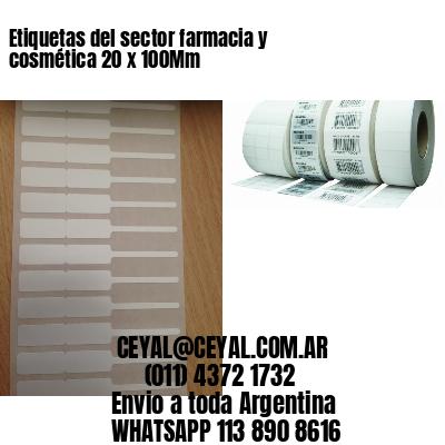 Etiquetas del sector farmacia y cosmética 20 x 100Mm