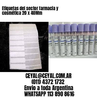Etiquetas del sector farmacia y cosmética 20 x 40Mm