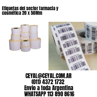 Etiquetas del sector farmacia y cosmética 20 x 50Mm
