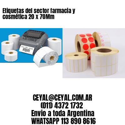 Etiquetas del sector farmacia y cosmética 20 x 70Mm