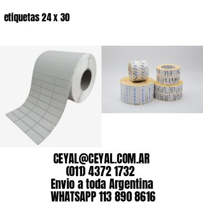 etiquetas 24 x 30