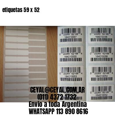 etiquetas 59 x 52