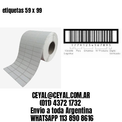 etiquetas 59 x 99