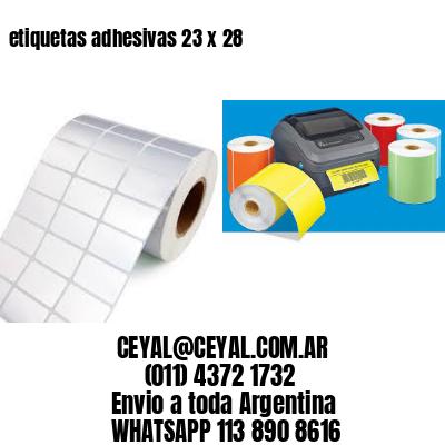 etiquetas adhesivas 23 x 28