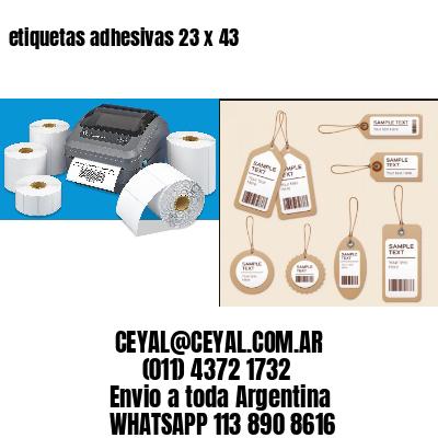 etiquetas adhesivas 23 x 43