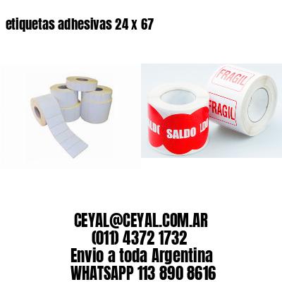 etiquetas adhesivas 24 x 67