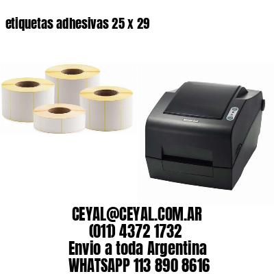 etiquetas adhesivas 25 x 29