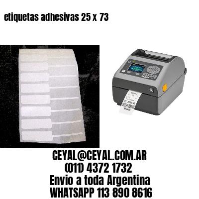 etiquetas adhesivas 25 x 73