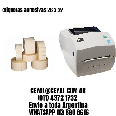 etiquetas adhesivas 26 x 27