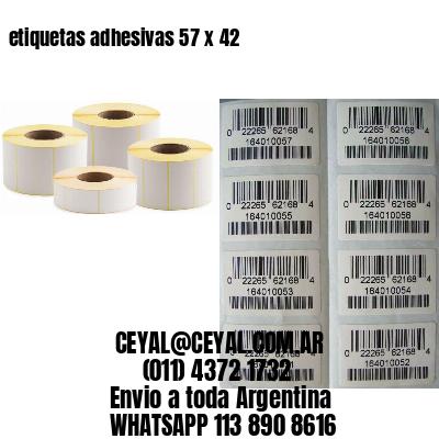 etiquetas adhesivas 57 x 42