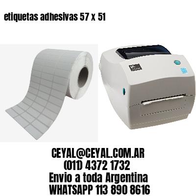 etiquetas adhesivas 57 x 51