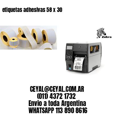 etiquetas adhesivas 58 x 30