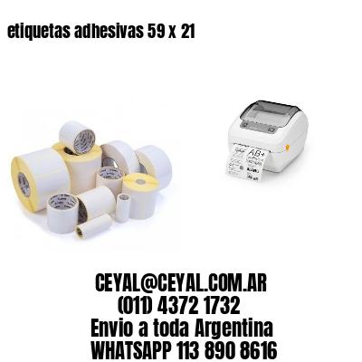 etiquetas adhesivas 59 x 21
