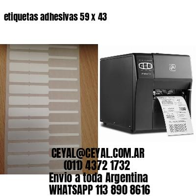 etiquetas adhesivas 59 x 43