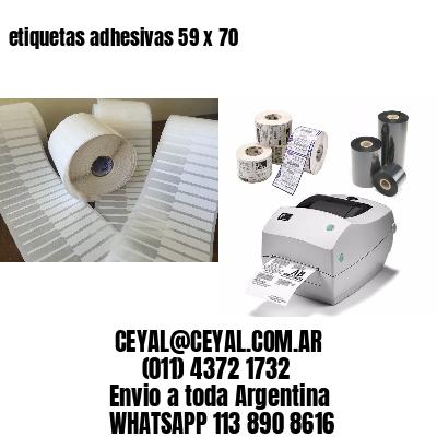 etiquetas adhesivas 59 x 70