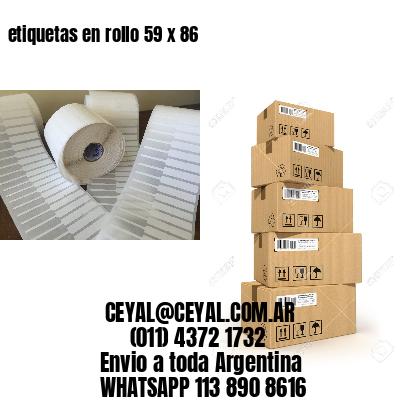 etiquetas en rollo 59 x 86