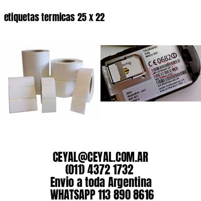 etiquetas termicas 25 x 22