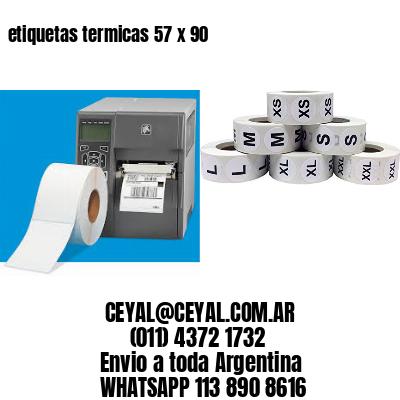 etiquetas termicas 57 x 90