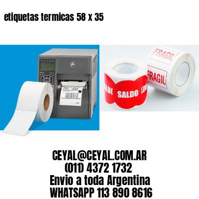 etiquetas termicas 58 x 35