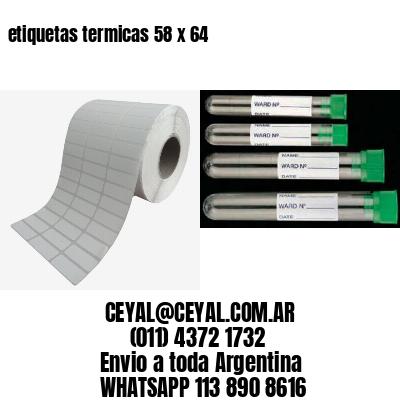 etiquetas termicas 58 x 64