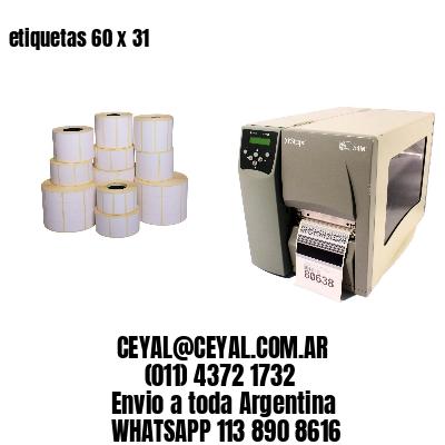 etiquetas 60 x 31