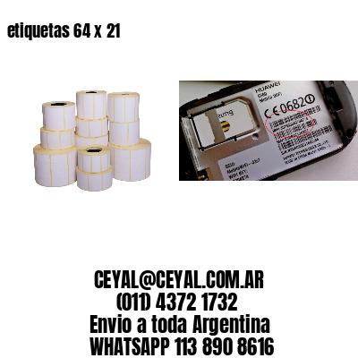 etiquetas 64 x 21
