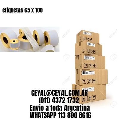 etiquetas 65 x 100