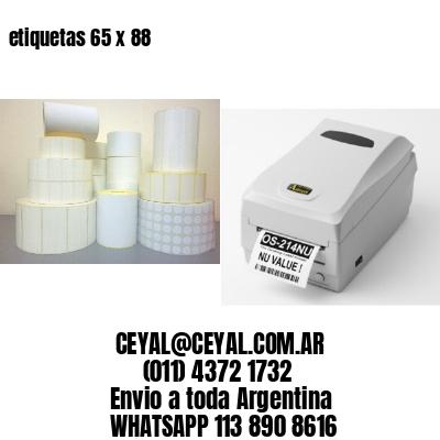 etiquetas 65 x 88