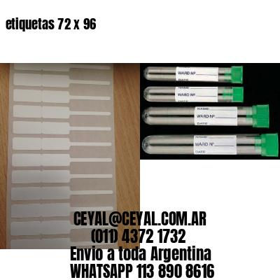etiquetas 72 x 96