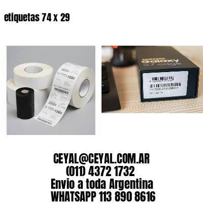 etiquetas 74 x 29