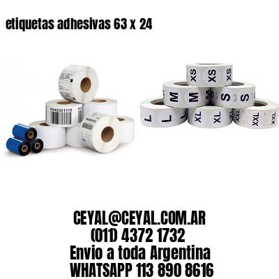 etiquetas adhesivas 63 x 24