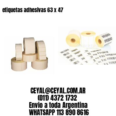 etiquetas adhesivas 63 x 47