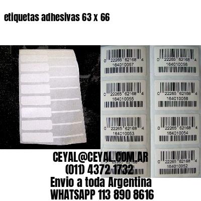 etiquetas adhesivas 63 x 66