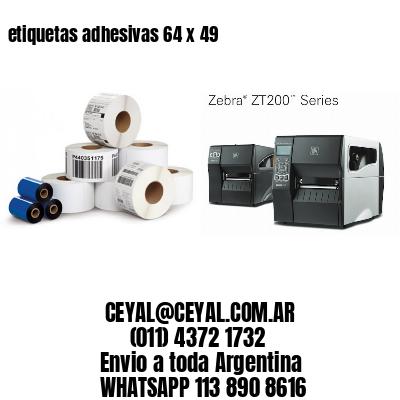 etiquetas adhesivas 64 x 49