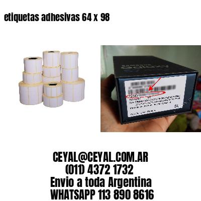 etiquetas adhesivas 64 x 98