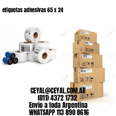 etiquetas adhesivas 65 x 24