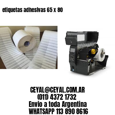 etiquetas adhesivas 65 x 80
