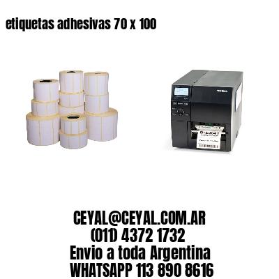 etiquetas adhesivas 70 x 100