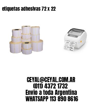 etiquetas adhesivas 72 x 22