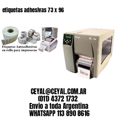 etiquetas adhesivas 73 x 96