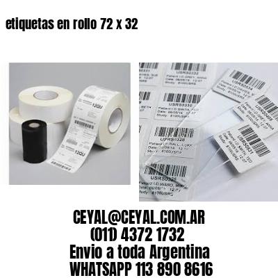 etiquetas en rollo 72 x 32